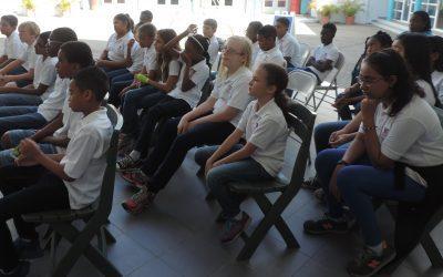 11 di mei 2017 Marnix Funderend Onderwijs (Klas 7c) e exsposishon di isla den nos bida na NAAM